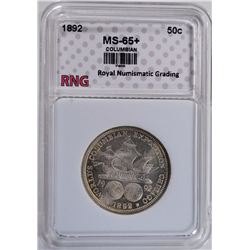 1892 COLUMBIAN EXPOSITION COMMEMORATIVE HALF DOLLAR GRADED RNG GEM BU+