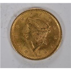 1851 $1.00 GOLD, CHOICE BU  NICE!