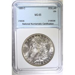 1888-O MORGAN SILVER DOLLAR NNC GEM BU