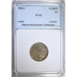 1926-S BUFFALO NICKEL NNC VF  KEY DATE  FULL HORN