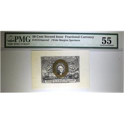1863 50 CENT SECOND ISSUE FRACTIONAL CURRENCY SPECIMEN FRONT PMG 55  SCARCE