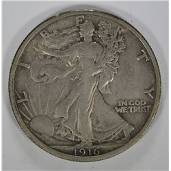1916 WALKING LIBERTY HALF DOLLAR - XF