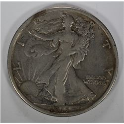 1917-D WALKING LIBERTY HALF DOLLAR - XF