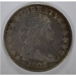 1802 DRAPED BUST HALF DOLLAR - XF