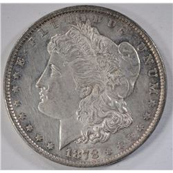 1878 7TF MORGAN SILVER DOLLAR, CH BU