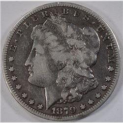1879-CC MORGAN SILVER DOLLAR, FINE+  KEY