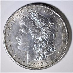 1900-S MORGAN SILVER DOLLAR, CHOICE BU  KEY DATE