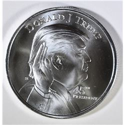 DONALD J TRUMP 45th PRESIDENT- THE WHITE HOUSE, .999 SILVER 1oz ROUND