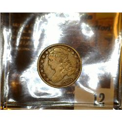 12.    1835 Capped Bust Dime, Fine.