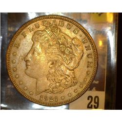 29.    1921 P U.S. Morgan Silver Dollar, VF+.