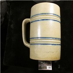 "192.3"" x 5.5"" Stoneware Barrel Mug marked ""The Fair Kawin & Co.""."
