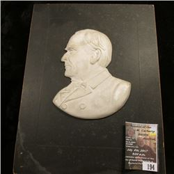 "194.Ceramic Plaque of William McKinley 4"" x 4.5"" size ceramic on a 6.5"" x 8.5"" Matte."