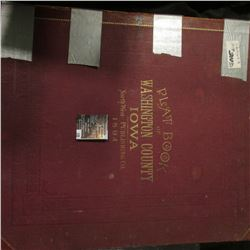 "199.Spine taped, but it is an 1894 ""Plat Book of Washington County Iowa North West Publishing Co."","