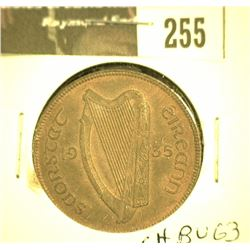 255.1935 Ireland Large Penny, CH BU 63 Red and brown.