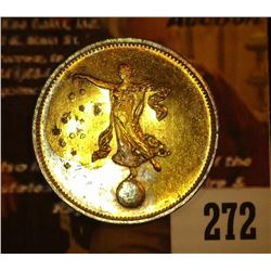 272.Spiele Marke, Bee obverse, reverse Mythical female standing on globe and sprinkling stars, br.,