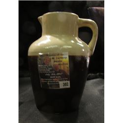 "302.4"" x 6"" Stoneware Syrup Pitcher."