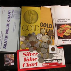 319.Large group of Gold and Silver Charts, flyers, and broschures as well as a nice selection of Mex