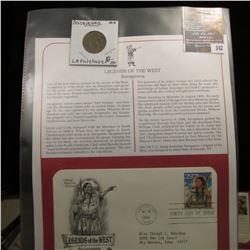 "342.""Sacajawea Louisiana Purchase"" Medal and 1994 First Day of Issue Stamped and postmarked Cover."