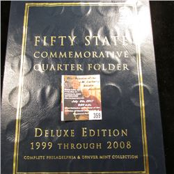 359.1999-2008 P & D Partial Set of Fifty States Commemorative Quarters in a Deluxe Edition Whitman f
