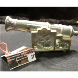 "377.Callen Mfg. Corp. ""JR"" Cannon Cap Gun. Cast white metal frame. 4 5/8""."