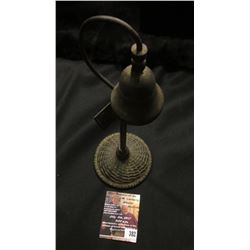 "382.Cast Iron Bell on light post style stand with cast Iron base, placard ""El camino Real/San Diego-"