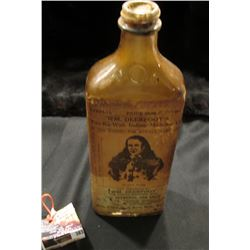 "383.Original Quack Medicine Bottle, 8.75"", ""Special Price $5 No.1 Wm. Deerfoot's Ton-Ka-Wah Indian M"