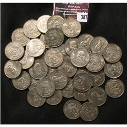 387.Original Roll of (40) 1966 Mexico Twenty-Five Centavos Coins.