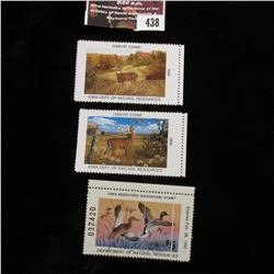 438.1991 Iowa Migratory Waterfowl Stamp, used, signed; 2005 & 2006 Iowa Habitat Stamps, both mint, u