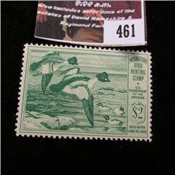 461.1949 U.S. Migratory Bird hunting Stamps, RW16, Unused, Full gum.
