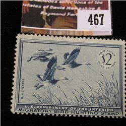 467.1955 U.S. Migratory Bird hunting Stamps, RW22, Unused, No Gum.