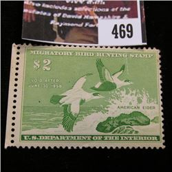 469.1957 U.S. Migratory Bird hunting Stamps, RW24, Unused, Original Gum, folded.