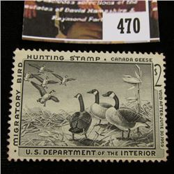 470.1958 U.S. Migratory Bird hunting Stamps, RW25, Unused, No Gum.