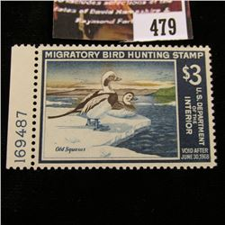 479.1967 U.S. Migratory Bird hunting Stamps, RW34, Unused, OG, Not hinged, Scarce Plate number singl