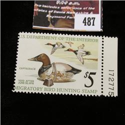 487.1975 U.S. Migratory Bird hunting Stamps, RW42, Unused, OG, Not hinged, Scarce Plate number singl