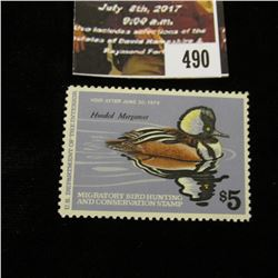490.1978 U.S. Migratory Bird hunting Stamps, RW45, Unused, OG, Not hinged, VF.