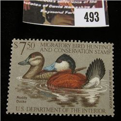 493.1981 U.S. Migratory Bird hunting Stamps, RW48, Unused, full original gum, VF.