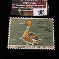 498.1986 U.S. Migratory Bird hunting Stamps, RW53, Unused, full original gum, VF.