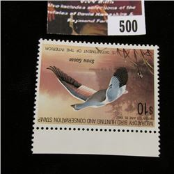500.1988 U.S. Migratory Bird hunting Stamps, RW55, Unused, full original gum, VF.