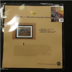 504.1996 Alaska-Aleution Canada Goose $5 Duck Stamp, Pristine, mint condition in original folio as i