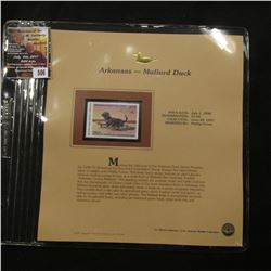 506.1996 Arkansas-Mallard Duck $7.00 Duck Stamp, Pristine, mint condition in original folio as issue