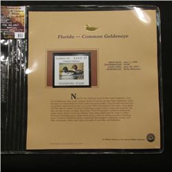 511.1996 Florida-Goldeneye $3.00 Duck Stamp, Pristine, mint condition in original folio as issued by