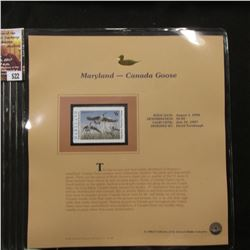 522.1996 Maryland-Canada Goose $6.00 Duck Stamp, Pristine, mint condition in original folio as issue