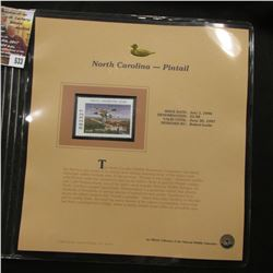 533.1996 North Carolina-Pintail $5.00 Duck Stamp, Pristine, mint condition in original folio as issu