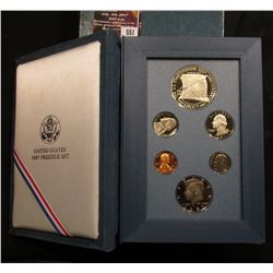 551.1987 S U.S. Prestige Proof Set, Original as issued.