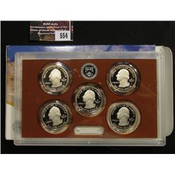 554.2013 S United States Mint America the Beautiful Quarters Proof Set, Original as issued.