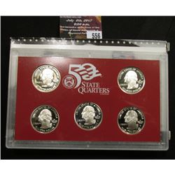 556.2005 S United States Mint America the Beautiful Quarters Silver Proof Set, Original as issued.