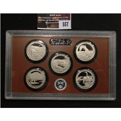 557.2014 S United States Mint America the Beautiful Quarters Proof Set, In original plastic case, no