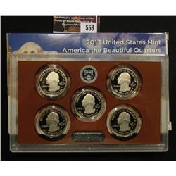 558.2013 S United States Mint America the Beautiful Quarters Proof Set, Original as issued.
