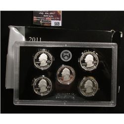 569.2011 S United States Mint America the Beautiful Quarters Silver Proof Set, In an Original Silver