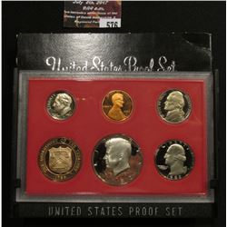 576.1982 S U.S. Proof Set, original as issued.